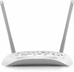 TP-LINK TD-W8961N Wireless N300 ADSL2+ Wi-Fi Modem, 2x 5dBi Omni directional Fixed antennas, Input ISPs supported- BSNL, MTNL, Tata Indicom